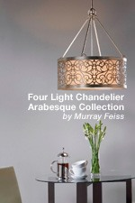 F2537/4SLP - Arabesque Collection - Four Light Chandelier by Murray Feiss