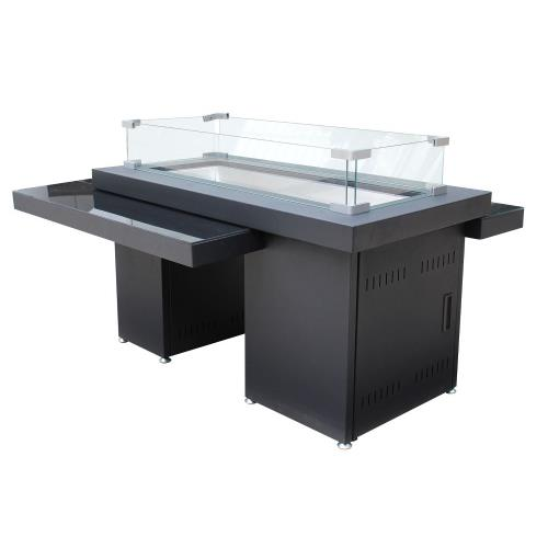 "AZ Patio Heaters GSF-RFP 32"" Two Tiered Glass Top Fire Pit"