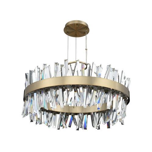 Allegri Lighting 030255-0 Glacier - 32 Inch LED Round Pendant