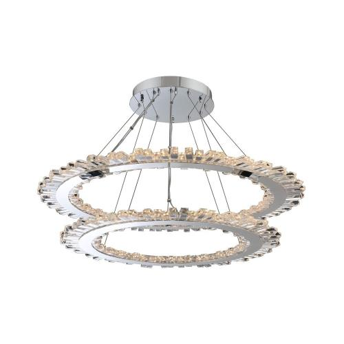 Allegri Lighting 032753-010-FR001 Quasar - 42 Inch 192W LED 2-Tier Pendant