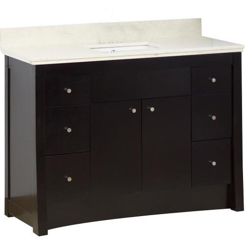 "American Imaginations AI-1652 Elite - 47.6"" Floor Mount Vanity Set For 3H4-in. Drilling with Top and Undermount Sink"