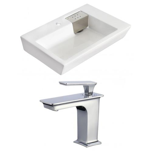 "American Imaginations AI-17824 26"" Above Counter Vessel Set For 1 Hole Center Faucet - Faucet Included"