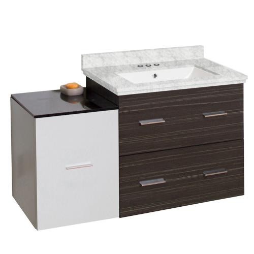 "American Imaginations AI-19859 Xena - 37.75"" Wall Mount Vanity Set For 3H4-in. Drilling with Top and Undermount Sink"