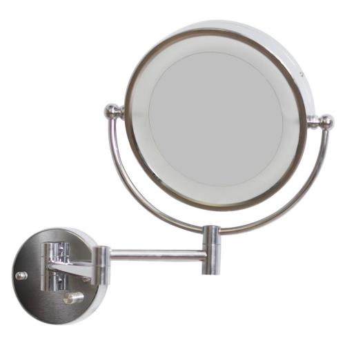 American Imaginations AI-55798 20.83 Inch Round LED Wall Mount Magnifying Mirror
