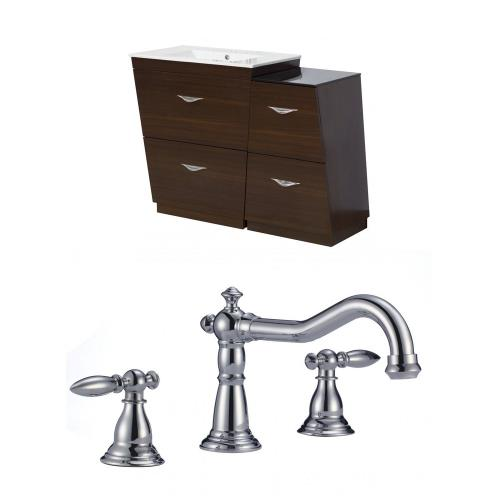 American Imaginations AI-9237 Vee - 40.5 Inch Floor Mount Vanity Set For 3H8-in. Drilling