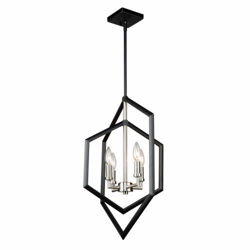 Artcraft Lighting AC10994NB Preston - Four Light Chandelier