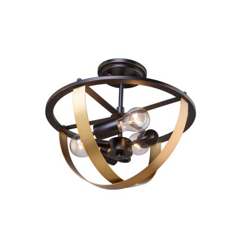 Artcraft Lighting AC11233 Capri - Three Light Semi-Flush Mount