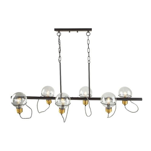 Artcraft Lighting AC11726 Martina-6 Light Island in Industrial Style-15.31 Inches Wide by 21.03 Inches High