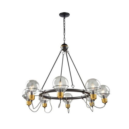 Artcraft Lighting AC11728 Martina-8 Light Chandelier in Industrial Style-30.85 Inches High