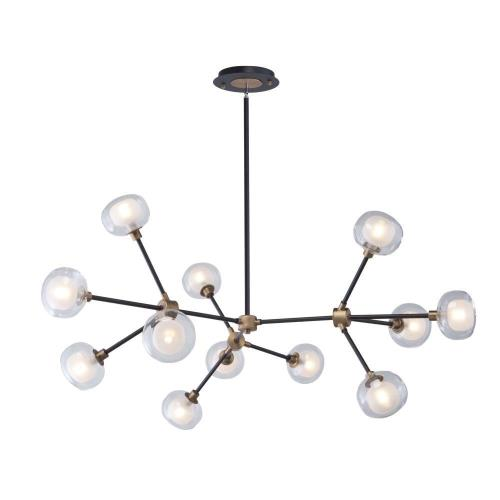 Artcraft Lighting AC7002BG Grappolo - 47.25 Inch 48W 12 LED Chandelier