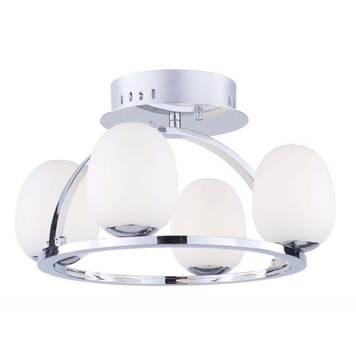 Artcraft Lighting AC7994 Meridian-16W 4 LED Flush Mount in Transitional Style-16 Inches Wide by 10 Inches High
