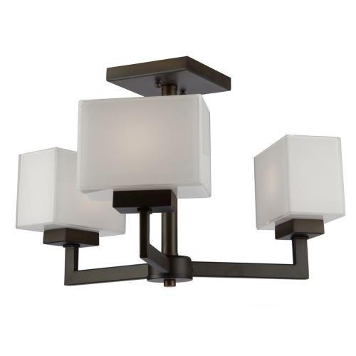 Artcraft Lighting SC13183OB Cube Light - Three Light Semi-Flush Mount