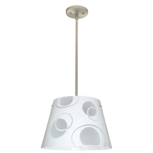 Besa Lighting 1KT-Amelia 18-O Amelia 18 - Three Light  Pendant with Flat Stem Canopy
