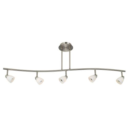 Cal Lighting SL-954-5-BS/WH Serpentine - Five Light Track