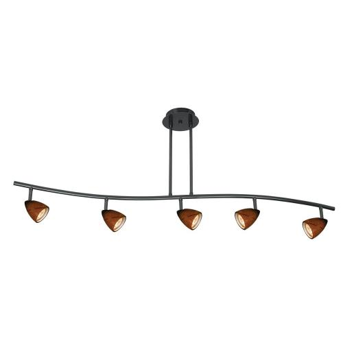 Cal Lighting SL-954-5-DB/AMS Serpentine - Five Light Track