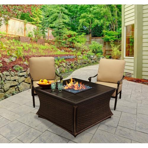 "California Outdoor Concepts 6110-BR Mendocino - 42"" Chat Height Fire Pit"