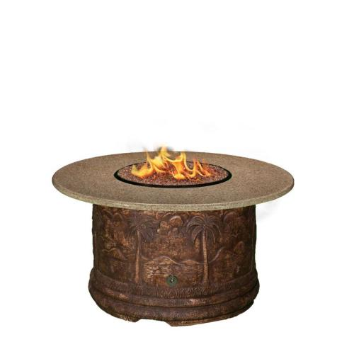 "California Outdoor Concepts 7310 Palm - 48"" Chat Height Capistrano Mosaic Fire Pit"