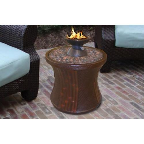 California Outdoor Concepts 8411 Bistro - Capri Round-Rattan Base Table Fireplace