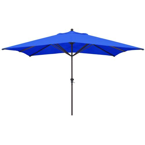 California Umbrella GS1188S 11'X8' Rectangular Aluminum Market Umbrella