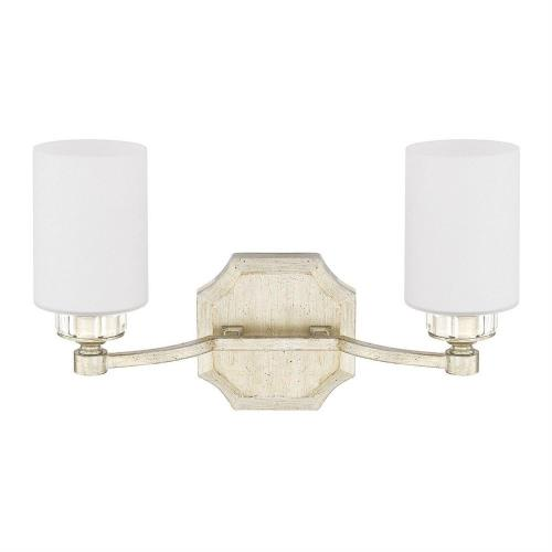 Capital Lighting 115021WG-375 Olivia 2 Light Transitional Bath Vanity Approved for Damp Locations
