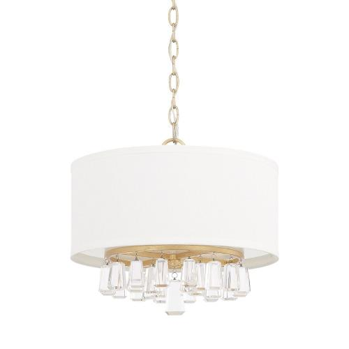 Capital Lighting 319741CG-675 Milan - 4 Light Pendant - in Transitional style - 15 high by 13 wide
