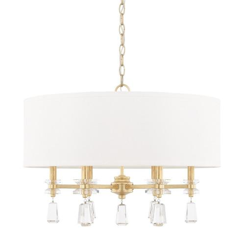 Capital Lighting 319742CG-676 Milan - 6 Light Pendant - in Transitional style - 24 high by 17.25 wide
