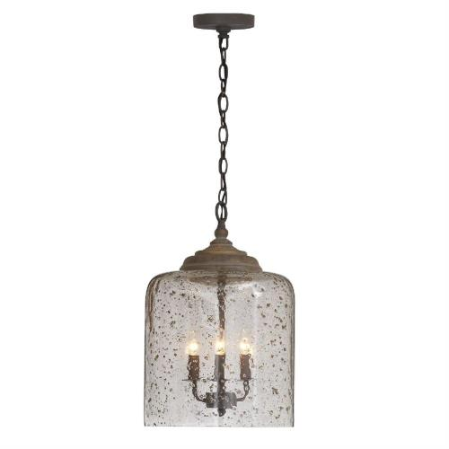 Capital Lighting 335242 19 Inch 3 Light Pendant - in Urban/Industrial style - 12.5 high by 19 wide
