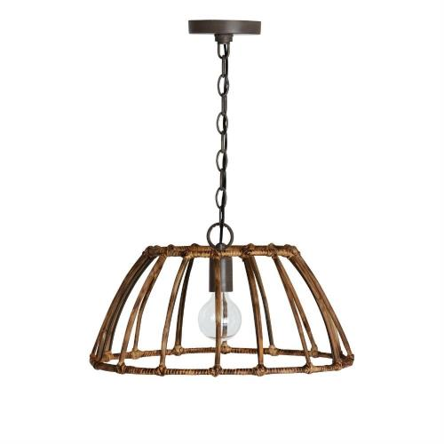 Capital Lighting 335711BY Sanibel - 1 Light Pendant - in Urban/Industrial/Artisan/Global/Coastal/Bohemian/Mixed Materials style - 19 high by 10.5 wide