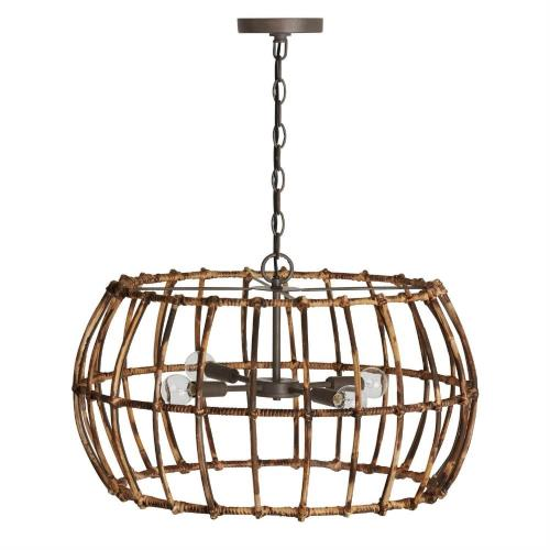 Capital Lighting 335742BY Sanibel - 4 Light Pendant - in Urban/Industrial/Artisan/Global/Coastal/Bohemian/Mixed Materials style - 23.5 high by 14.5 wide