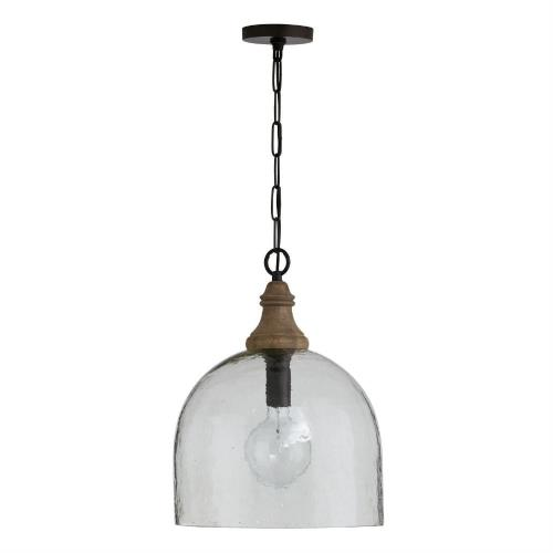 Capital Lighting 336011YP-48 19.25 Inch 1 Light Pendant - in Urban/Industrial/Farmhouse/Rustic/Mixed Materials style - 15 high by 19.25 wide