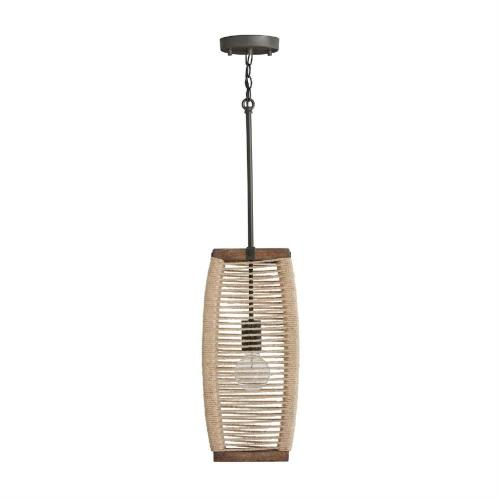 Capital Lighting 340311 Jacob - Pendant 1 Light - in Urban/Industrial style - 8.5 high by 19 wide