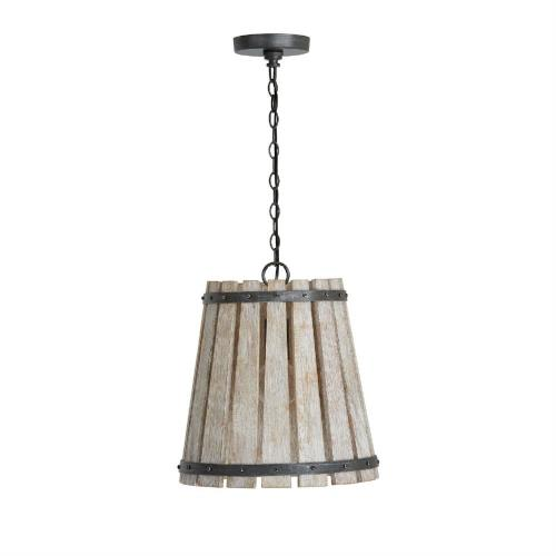 Capital Lighting 340411 Remi - Pendant 1 Light - in Urban/Industrial style - 14.25 high by 15.75 wide