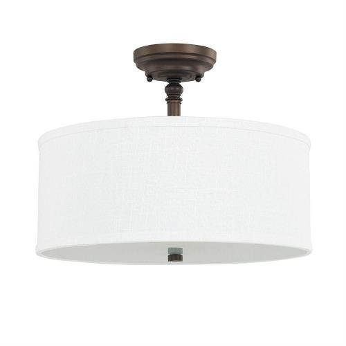 Capital Lighting 3923BB-480 Loft - Three Light Semi-Flush Mount