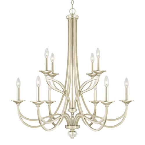 Capital Lighting 413801SF Windsor 2-Tier Chandelier 10 Light Soft Gold Steel
