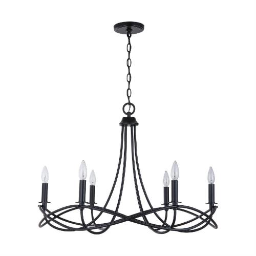 Capital Lighting 431661 Sonnet - Chandelier 6 Light Matte Black Metal - in Transitional style - 29.5 high by 22 wide
