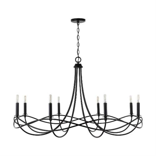 Capital Lighting 431681 Sonnet - Chandelier 8 Light Matte Black Metal - in Transitional style - 44.5 high by 27 wide