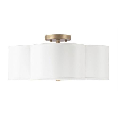 Capital Lighting 4453 Quinn - 4 Light Semi-Flush Mount - in Modern style - 18 high by 8.25 wide