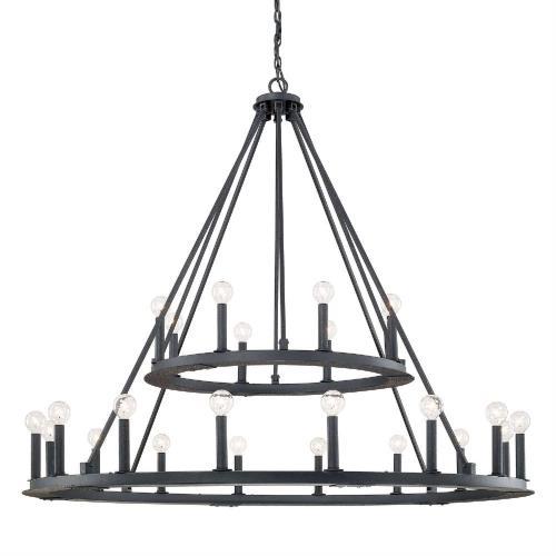 Capital Lighting 4910 Pearson Chandelier 24 Light Black Iron Steel