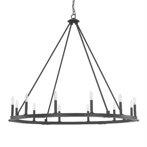 Capital Lighting 4912 Pearson Chandelier 12 Light Black Iron
