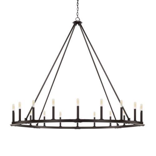 Capital Lighting 4913BI Pearson - Chandelier 20 Light Black Iron - in Industrial style - 60 high by 52 wide