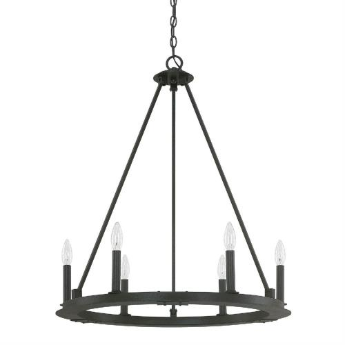 Capital Lighting 4916 Pearson Chandelier 6 Light Black Iron
