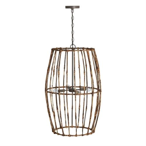 Capital Lighting 535741BY Sanibel - 4 Light Foyer - in Urban/Industrial/Artisan/Global/Coastal/Bohemian/Mixed Materials style - 19.5 high by 33 wide