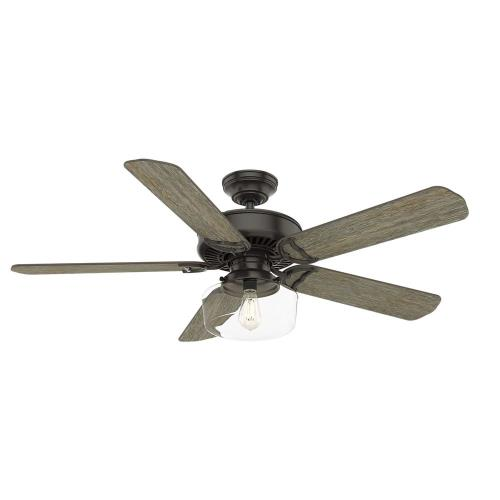 Casablanca Fans 5508-54CFLK Panama - 5 Blade 54 Inch Ceiling Fan with Wall Control in Traditional Style and includes 5 Motor Speed settings