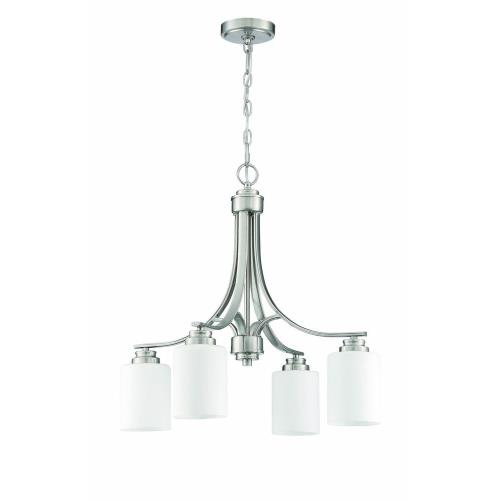 Craftmade Lighting 50524 Bolden - Four Light Chandelier in Transitional Style - 23 inches wide by 22 inches high