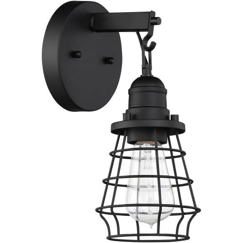 Craftmade Lighting 50601 Thatcher - One Light Cage Wall Sconce in Transitional Style - 5.5 inches wide by 11 inches high