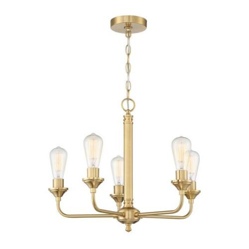 Craftmade Lighting 53025 Bridgestone - Five Light Chandelier in Transitional Style - 22.75 inches wide by 18.5 inches high