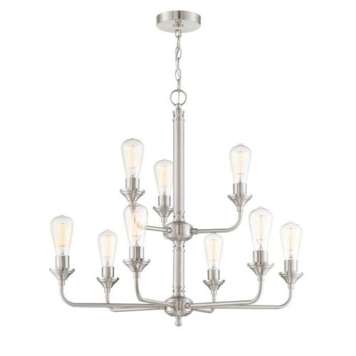Craftmade Lighting 53029 Bridgestone - Nine Light Chandelier in Transitional Style - 28.75 inches wide by 26.87 inches high
