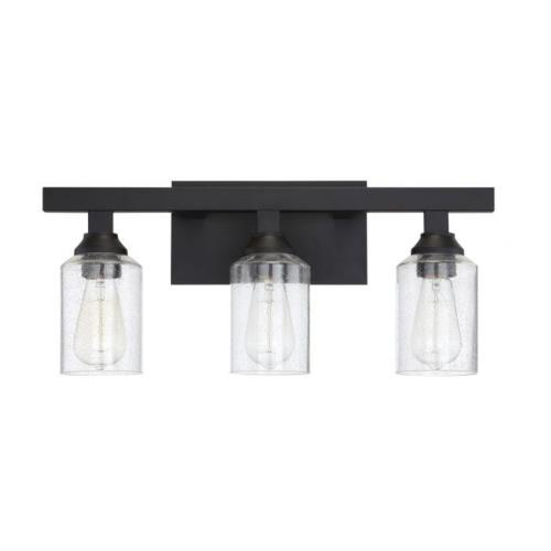 Craftmade Lighting 53103 Chicago 3 Light Transitional Bath Vanity in Transitional Style - 22 inches wide by 10.25 inches high