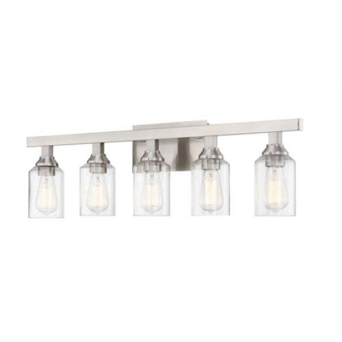 Craftmade Lighting 53105 Chicago 5 Light Transitional Bath Vanity in Transitional Style - 35.75 inches wide by 10.25 inches high