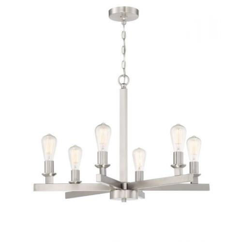 Craftmade Lighting 53126 Chicago - Six Light Chandelier in Transitional Style - 30 inches wide by 21.75 inches high